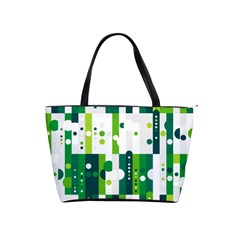 Generative Art Experiment Rectangular Circular Shapes Polka Green Vertical Shoulder Handbags