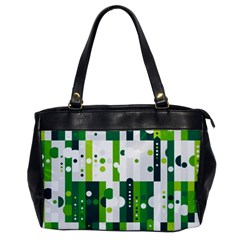 Generative Art Experiment Rectangular Circular Shapes Polka Green Vertical Office Handbags