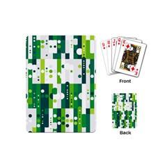 Generative Art Experiment Rectangular Circular Shapes Polka Green Vertical Playing Cards (Mini)