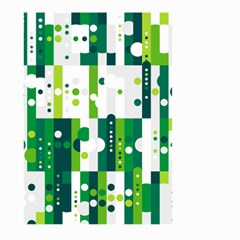 Generative Art Experiment Rectangular Circular Shapes Polka Green Vertical Large Garden Flag (Two Sides)
