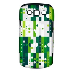 Generative Art Experiment Rectangular Circular Shapes Polka Green Vertical Samsung Galaxy S III Classic Hardshell Case (PC+Silicone)