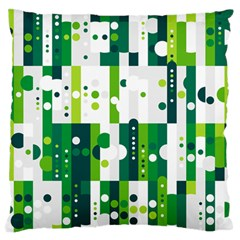 Generative Art Experiment Rectangular Circular Shapes Polka Green Vertical Standard Flano Cushion Case (Two Sides)