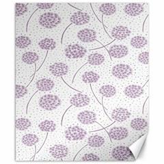 Purple Tulip Flower Floral Polkadot Polka Spot Canvas 8  x 10