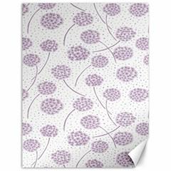 Purple Tulip Flower Floral Polkadot Polka Spot Canvas 12  x 16