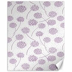 Purple Tulip Flower Floral Polkadot Polka Spot Canvas 16  x 20