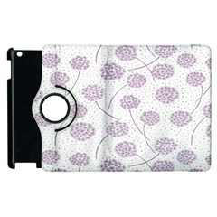 Purple Tulip Flower Floral Polkadot Polka Spot Apple iPad 2 Flip 360 Case