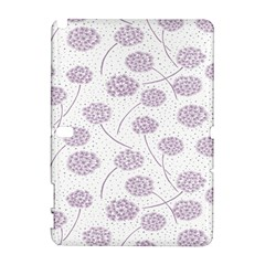 Purple Tulip Flower Floral Polkadot Polka Spot Galaxy Note 1