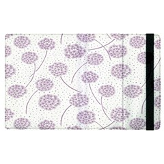 Purple Tulip Flower Floral Polkadot Polka Spot Apple Ipad Pro 12 9   Flip Case