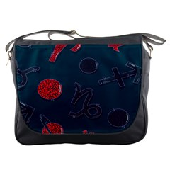 Zodiac Signs Planets Blue Red Space Messenger Bags