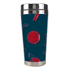 Zodiac Signs Planets Blue Red Space Stainless Steel Travel Tumblers