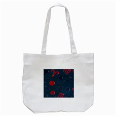 Zodiac Signs Planets Blue Red Space Tote Bag (White)