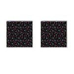Floral pattern Cufflinks (Square) Front