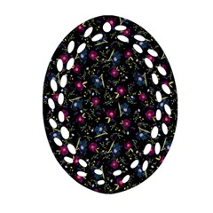 Floral pattern Oval Filigree Ornament (Two Sides)
