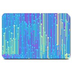 Vertical Behance Line Polka Dot Blue Green Purple Large Doormat
