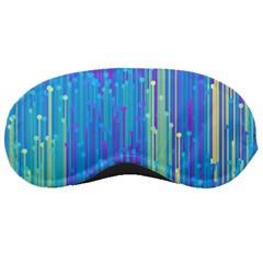 Vertical Behance Line Polka Dot Blue Green Purple Sleeping Masks