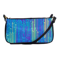 Vertical Behance Line Polka Dot Blue Green Purple Shoulder Clutch Bags