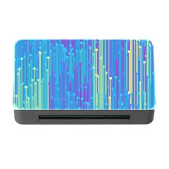 Vertical Behance Line Polka Dot Blue Green Purple Memory Card Reader with CF