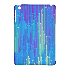 Vertical Behance Line Polka Dot Blue Green Purple Apple iPad Mini Hardshell Case (Compatible with Smart Cover)