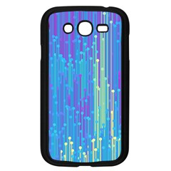 Vertical Behance Line Polka Dot Blue Green Purple Samsung Galaxy Grand DUOS I9082 Case (Black)