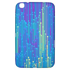 Vertical Behance Line Polka Dot Blue Green Purple Samsung Galaxy Tab 3 (8 ) T3100 Hardshell Case