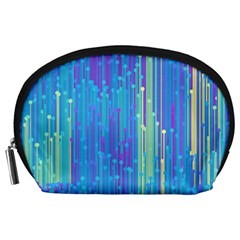 Vertical Behance Line Polka Dot Blue Green Purple Accessory Pouches (large)