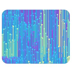 Vertical Behance Line Polka Dot Blue Green Purple Double Sided Flano Blanket (Medium)