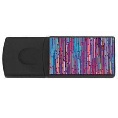 Vertical Behance Line Polka Dot Blue Green Purple Red Blue Black USB Flash Drive Rectangular (1 GB)