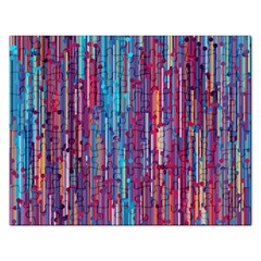 Vertical Behance Line Polka Dot Blue Green Purple Red Blue Black Rectangular Jigsaw Puzzl