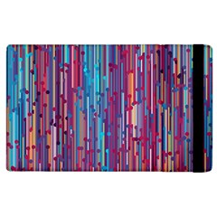 Vertical Behance Line Polka Dot Blue Green Purple Red Blue Black Apple iPad 3/4 Flip Case