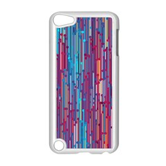 Vertical Behance Line Polka Dot Blue Green Purple Red Blue Black Apple iPod Touch 5 Case (White)
