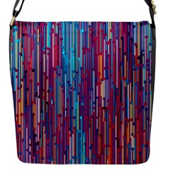 Vertical Behance Line Polka Dot Blue Green Purple Red Blue Black Flap Messenger Bag (s)