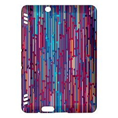 Vertical Behance Line Polka Dot Blue Green Purple Red Blue Black Kindle Fire HDX Hardshell Case