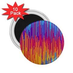 Vertical Behance Line Polka Dot Blue Red Orange 2.25  Magnets (10 pack)