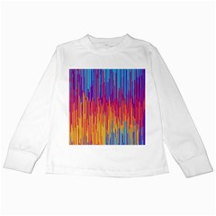 Vertical Behance Line Polka Dot Blue Red Orange Kids Long Sleeve T-Shirts