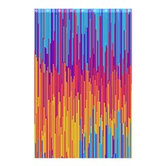 Vertical Behance Line Polka Dot Blue Red Orange Shower Curtain 48  x 72  (Small)