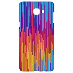Vertical Behance Line Polka Dot Blue Red Orange Samsung C9 Pro Hardshell Case