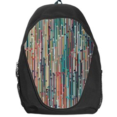 Vertical Behance Line Polka Dot Grey Blue Brown Backpack Bag