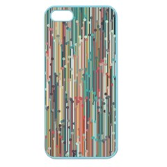 Vertical Behance Line Polka Dot Grey Blue Brown Apple Seamless iPhone 5 Case (Color)