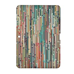 Vertical Behance Line Polka Dot Grey Blue Brown Samsung Galaxy Tab 2 (10.1 ) P5100 Hardshell Case