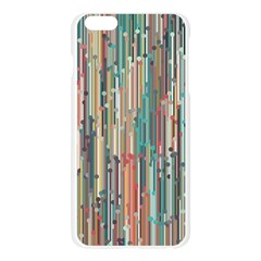 Vertical Behance Line Polka Dot Grey Blue Brown Apple Seamless iPhone 6 Plus/6S Plus Case (Transparent)