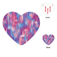 Vertical Behance Line Polka Dot Blue Green Purple Red Blue Small Playing Cards (Heart)