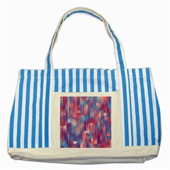 Vertical Behance Line Polka Dot Blue Green Purple Red Blue Small Striped Blue Tote Bag