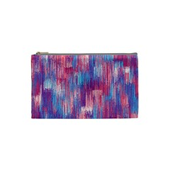 Vertical Behance Line Polka Dot Blue Green Purple Red Blue Small Cosmetic Bag (Small)