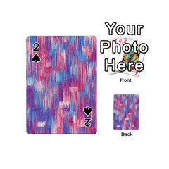 Vertical Behance Line Polka Dot Blue Green Purple Red Blue Small Playing Cards 54 (Mini)