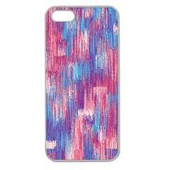 Vertical Behance Line Polka Dot Blue Green Purple Red Blue Small Apple Seamless iPhone 5 Case (Clear)