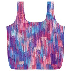 Vertical Behance Line Polka Dot Blue Green Purple Red Blue Small Full Print Recycle Bags (L)