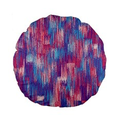 Vertical Behance Line Polka Dot Blue Green Purple Red Blue Small Standard 15  Premium Flano Round Cushions