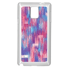 Vertical Behance Line Polka Dot Blue Green Purple Red Blue Small Samsung Galaxy Note 4 Case (White)