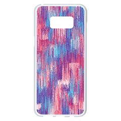 Vertical Behance Line Polka Dot Blue Green Purple Red Blue Small Samsung Galaxy S8 Plus White Seamless Case