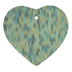 Vertical Behance Line Polka Dot Grey Heart Ornament (Two Sides)
